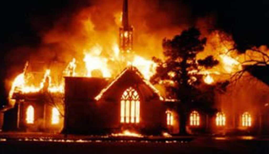 Fire Destroys Church